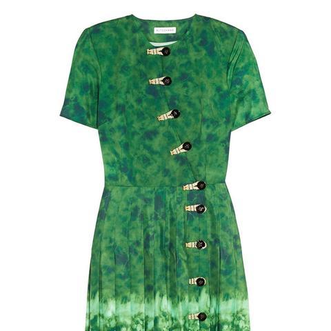 Ilari Tie-Dyed Crepe de Chine Dress