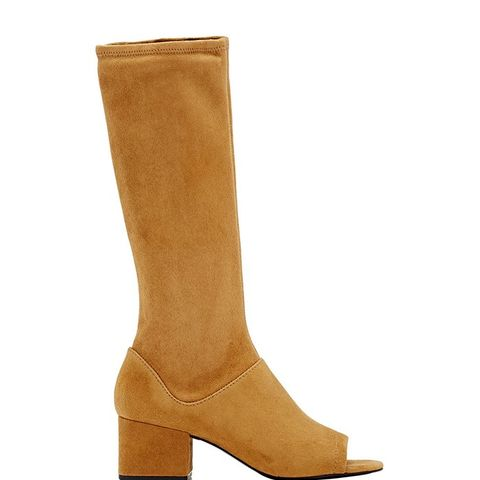 "Suede ""Cube"" Knee Boots"