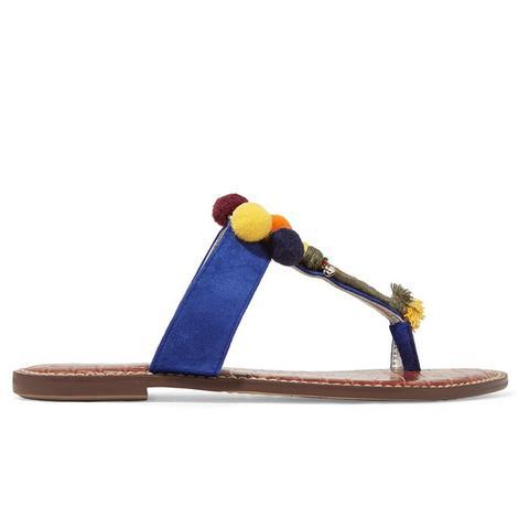 Gemina Embellished Suede Sandals