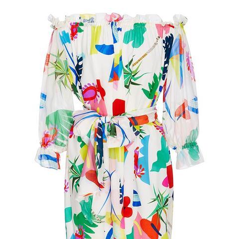 Silk Printed Frufru Dress