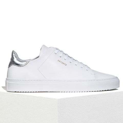 Clean 90 Sneaker White Leather With Metallic Heel