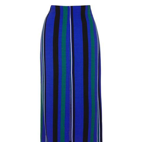 Stripe Split Maxi Skirt