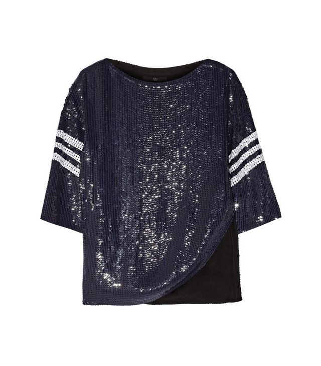 Tibi Sequined Silk Top