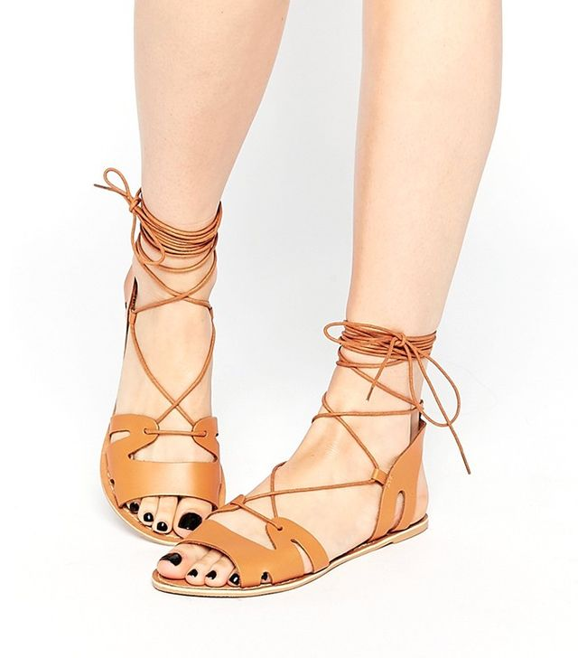 ASOS Fuerta Lace Up Leather Sandals