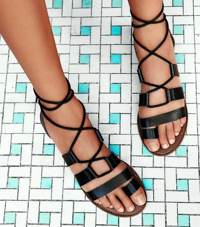 Free People Vegan Maddie Tie Up Sandal