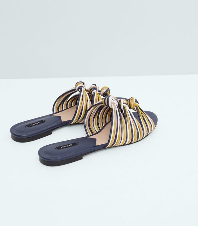 Mango Knot Flat Sandals