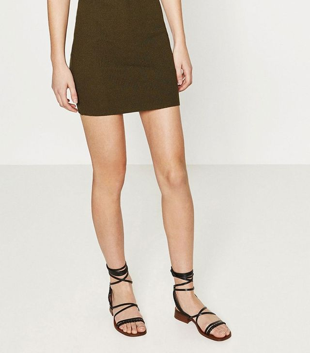 Zara Wood and Leather Sandals
