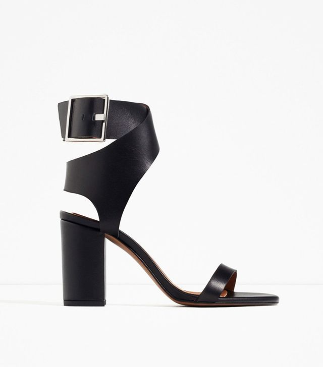 Zara Leather Sandals With Buckle