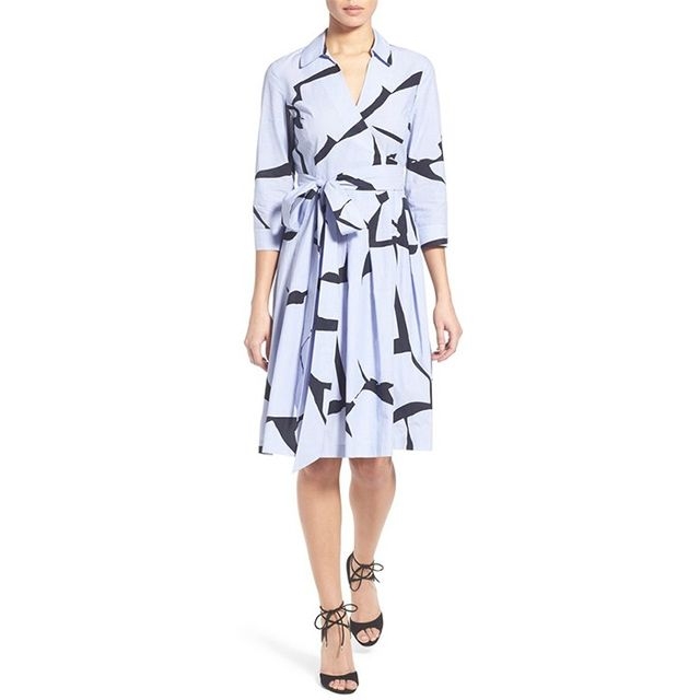 Ivanka Trump Abstract Print Cotton Dress