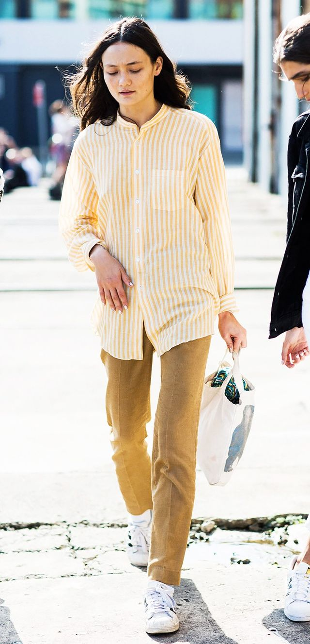 3. Button-Down and Skinny Trousers