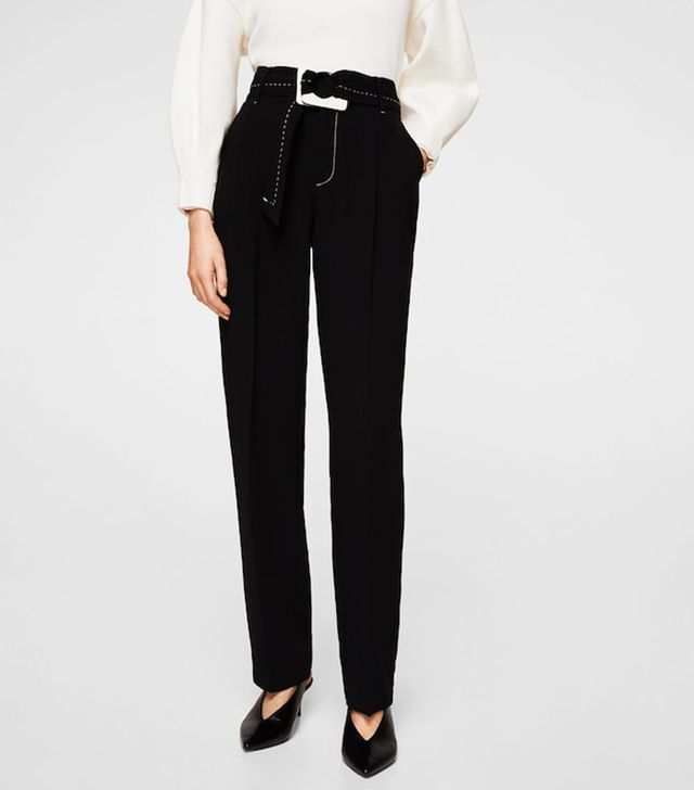 Contrast Seam Trousers