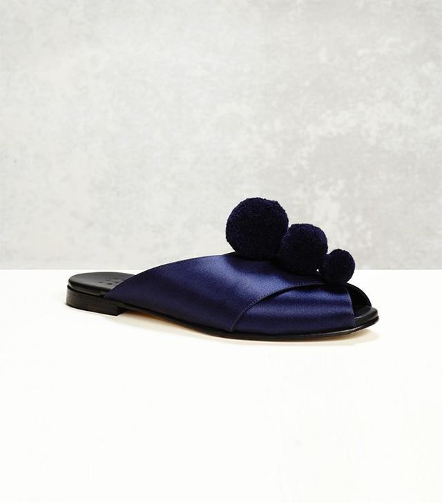 Trademark Pajama Sandal W/ Pom Poms