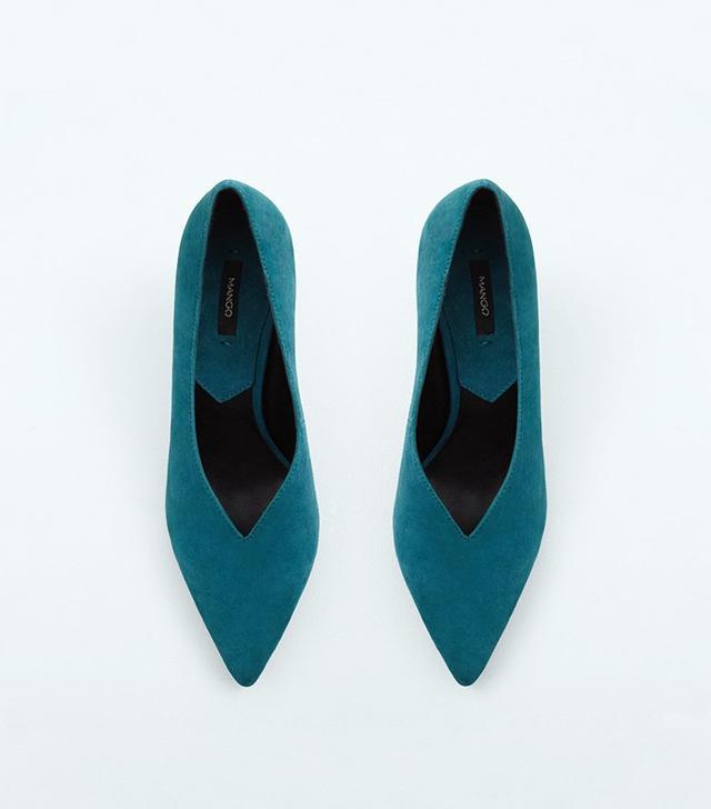 Mango Heel Leather Shoes