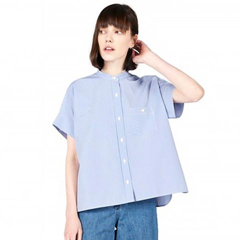 The Striped Cotton Poplin Square Shirt