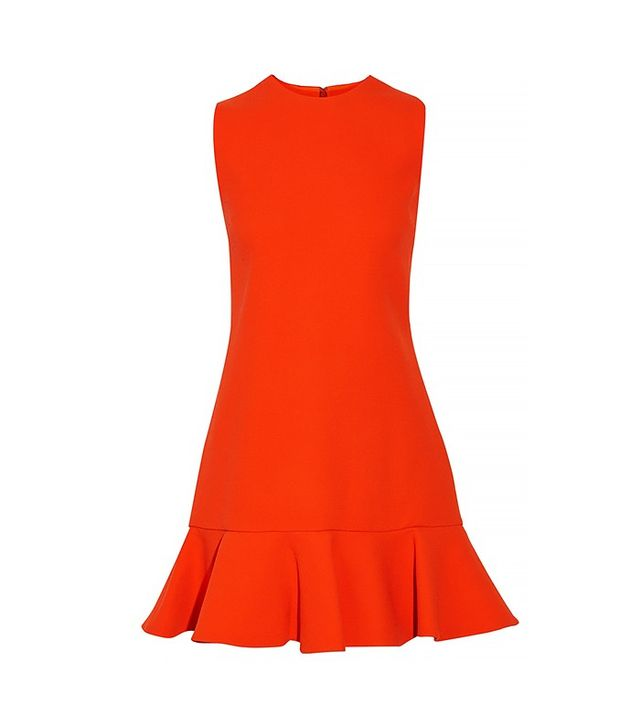 Victoria Victoria Beckham Fluted Wool Mini Dress