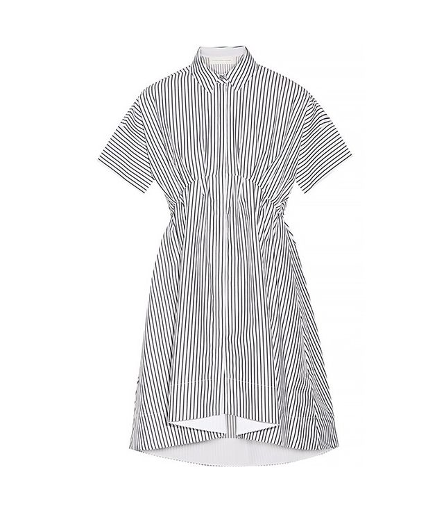 Victoria Victoria Beckham Striped Cotton-Poplin Shirt Dress