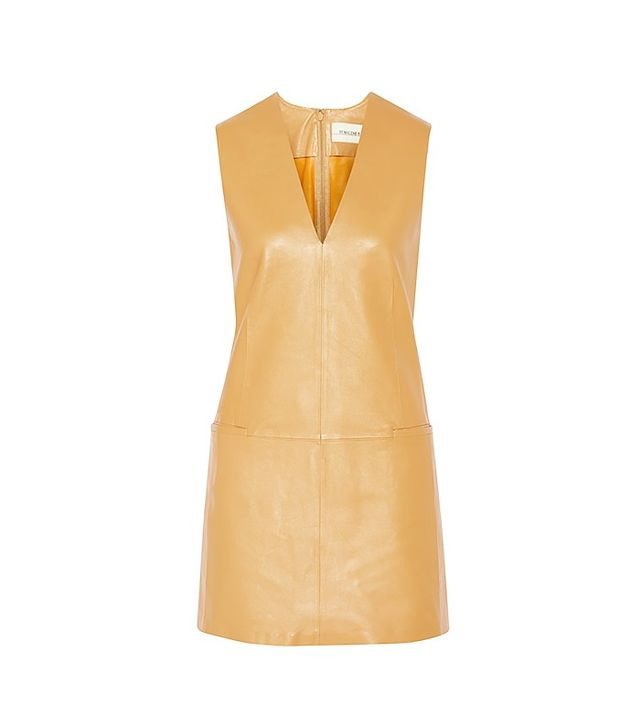 By Malene Birger Gade Leather Mini Dress