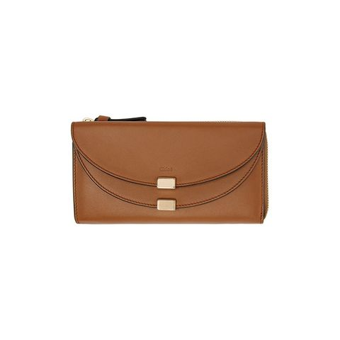 Tan Leather Long Georgia Wallet