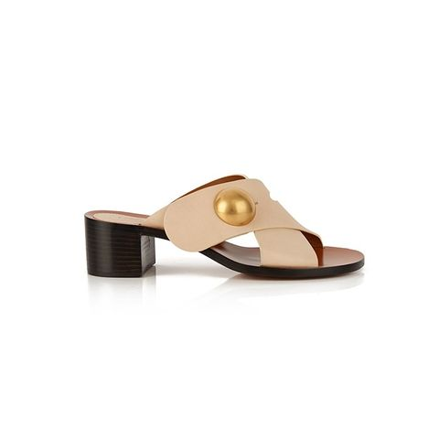 Fawn Cross-Strap Leather Sandals