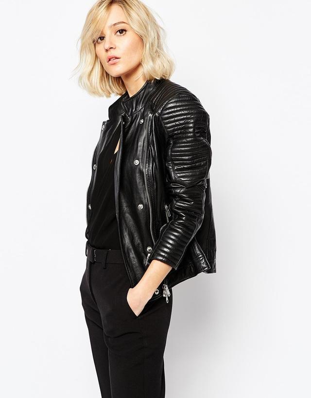 Gestuz Leather Jacket With Studs