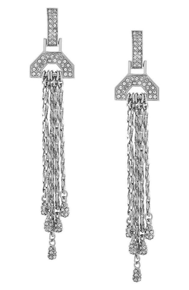 Louise et Cie Pavé Fringe Drop Earrings