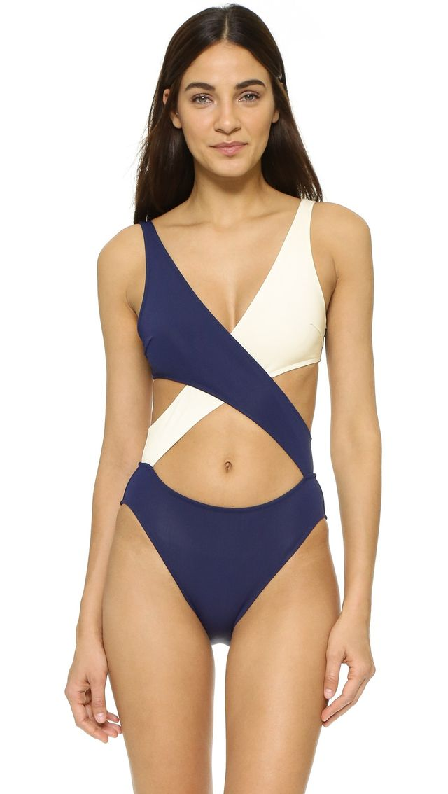 Solid & Striped Poppy Delevingne Wrap Swimsuit
