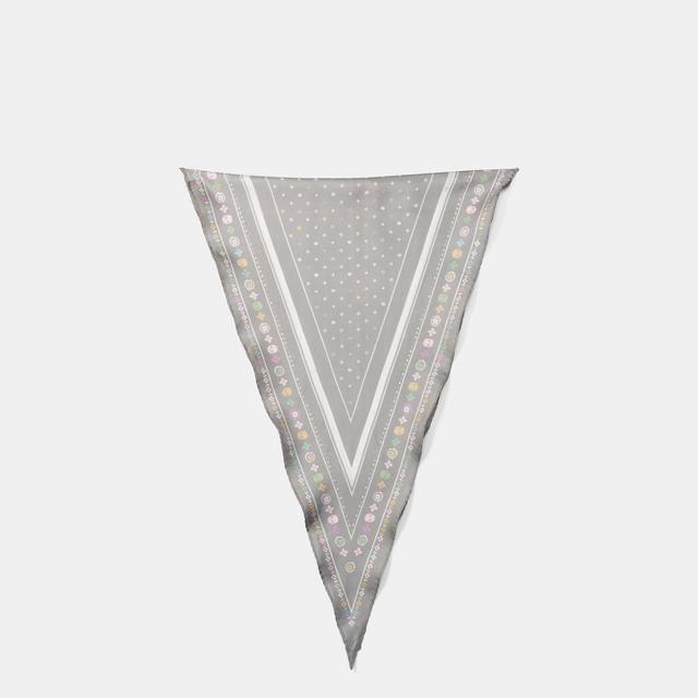 Coach Floral Silk Diamond Scarf