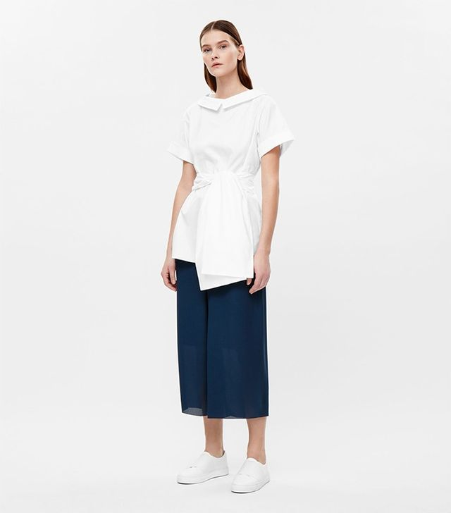COS Oversized Top With Chunky Tie