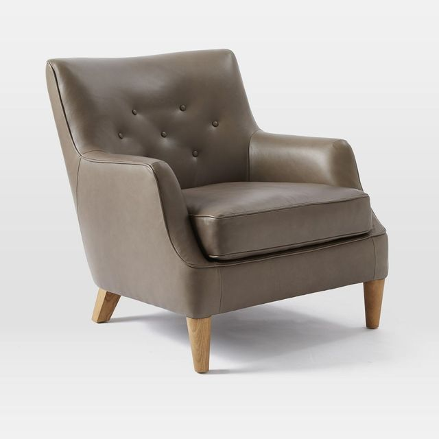 West Elm Livingston Leather Club Chair
