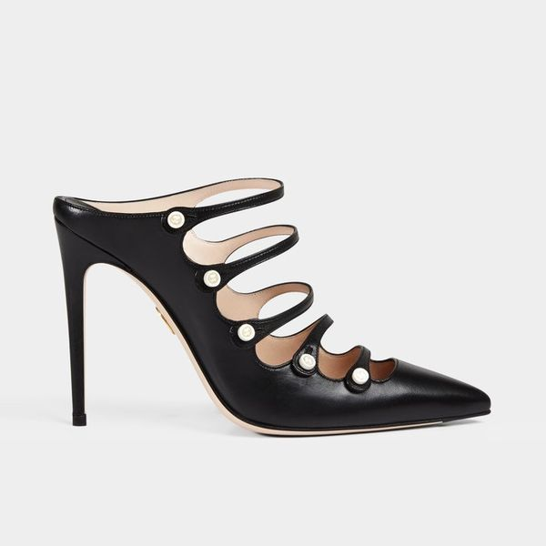 Gucci Leather Ankle Pump