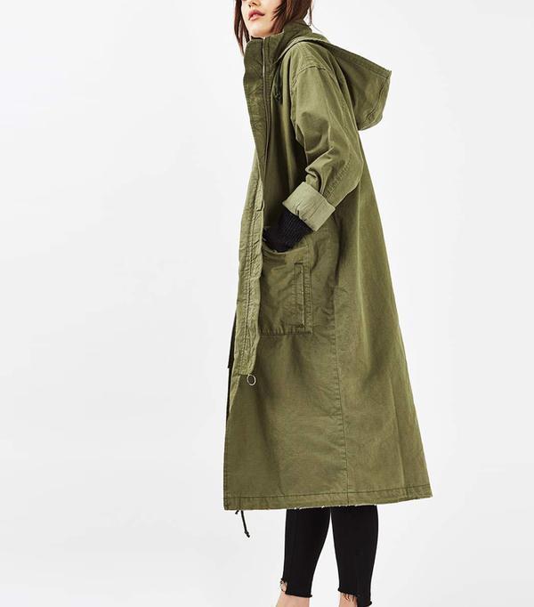adwoa aboah style: Topshop Longline Parka Jacket