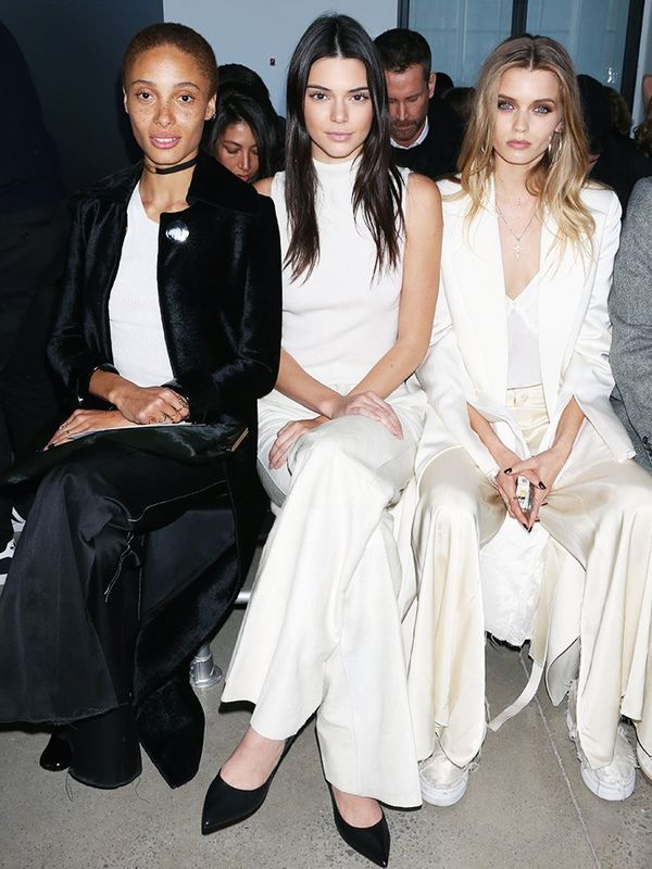 adwoa aboah style: on the front row at Calvin Klein