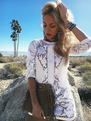 Peace Love Shea's Embroidered White Dress Will Work at Any Festival