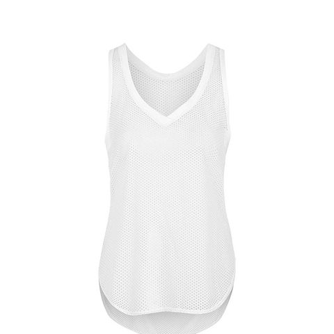 All-Over Mesh V-Neck Tank by Ivy Park