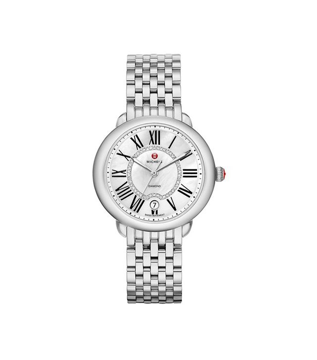 Michele Serein 16 Diamond Dial Round Watch Case