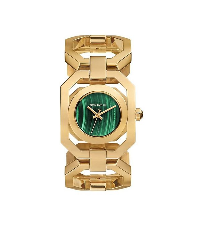 Tory Burch Gigi Limited Edition Gold Tone/Malachite Watch