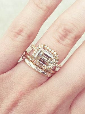 20 Real S With Gorgeous Wedding Band And Engagement Ring Combos