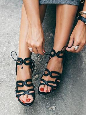 #TuesdayShoesday: 7 Stylish Black Sandals Under $100