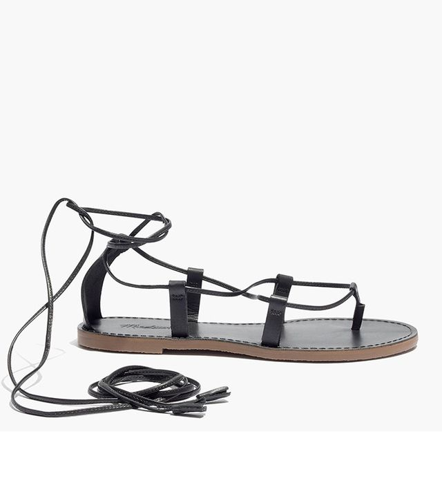 Madewell The Boardwalk Lace-Up Leather Sandals
