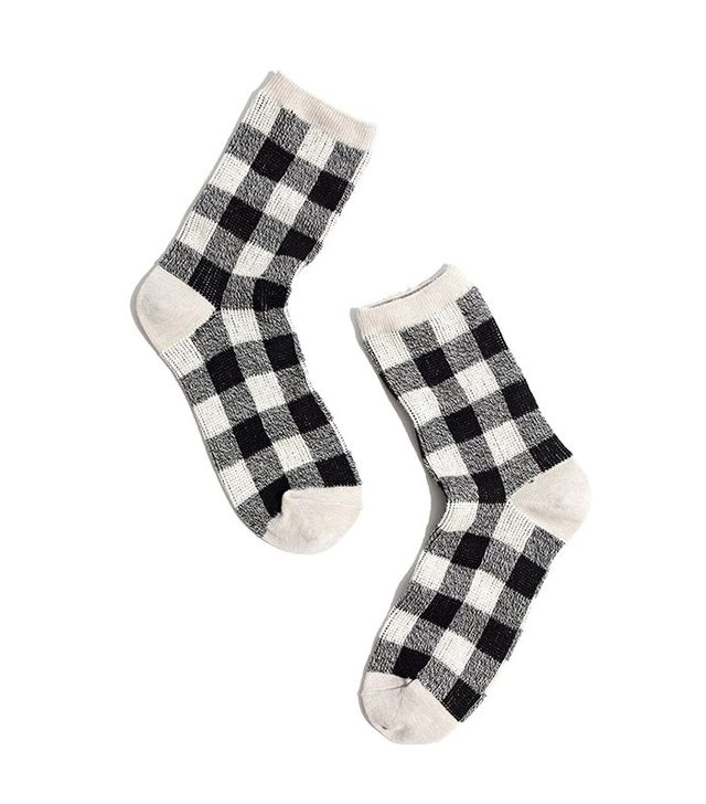 Madewell Buffalo Check Trousers Socks
