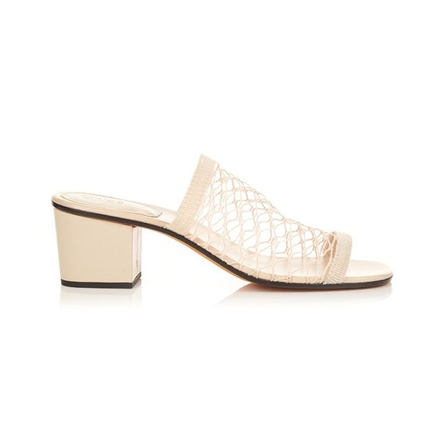 Chloé Lucy Mesh Block-Heeled Sandals