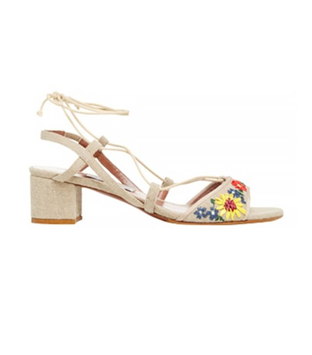 Tabitha Simmons Lori Meadow Embroidered Sandals