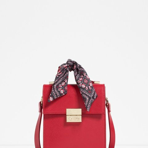 Cross-Body Bag with Scarf Detail