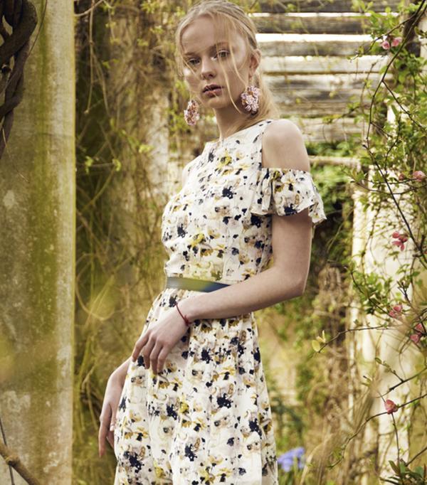 Kelly Love Watercolour Silk Midi Dress