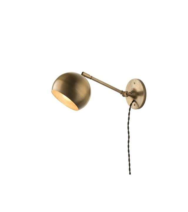 Schoolhouse Electric Isaac Plug-In Sconce Brass