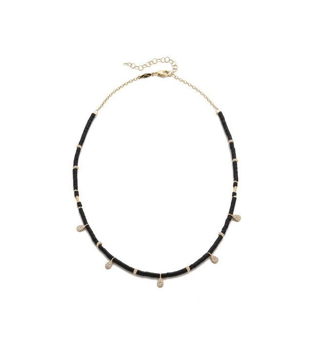 Jacquie Aiche JA Teardrop Charm Beaded Choker Necklace