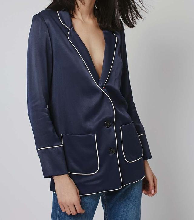 Topshop Satin Pyjama Style Jacket