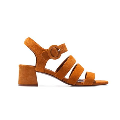 Split Suede Strappy Sandals