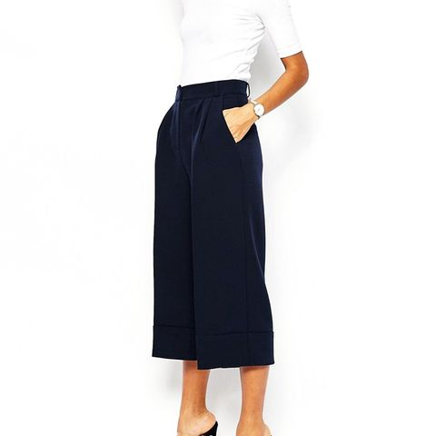High Waist Culottes with Deep Turn Up
