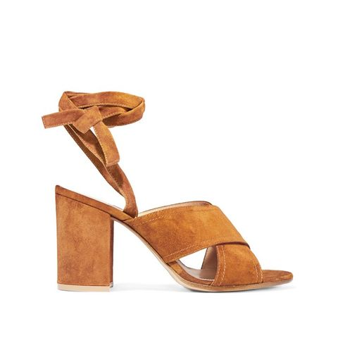 Suede Tie-Up Sandals